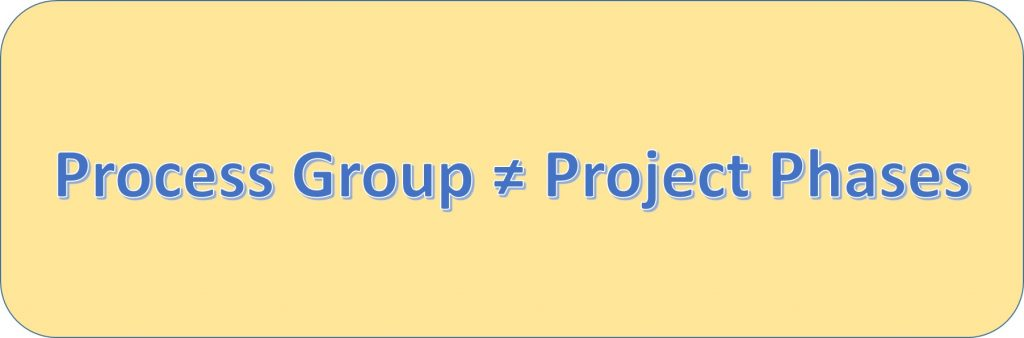 Process groups ARE NOT project phases